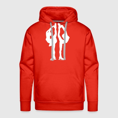 Figure skating and ice figure dance is an artistry - Men's Premium Hoodie