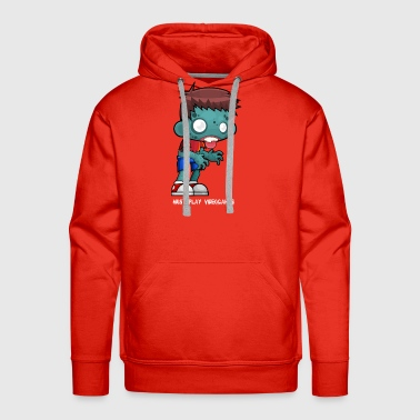 Zombie Boy loves videogames - Men's Premium Hoodie