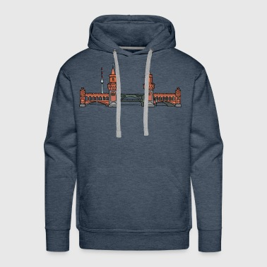 Oberbaum Bridge Berlin - Men's Premium Hoodie