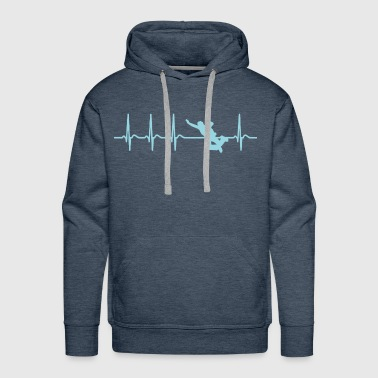 BASE Jumping Jumper heartbeat cool fun shirt gift - Men's Premium Hoodie