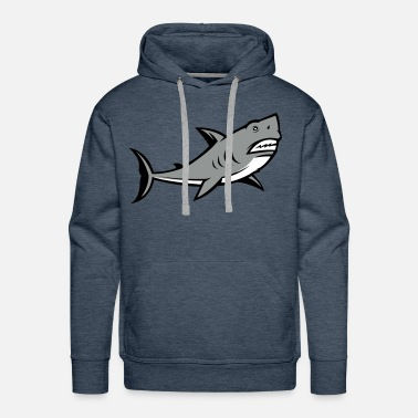 Shark Great White Shark Logo - Men's Premium Hoodie