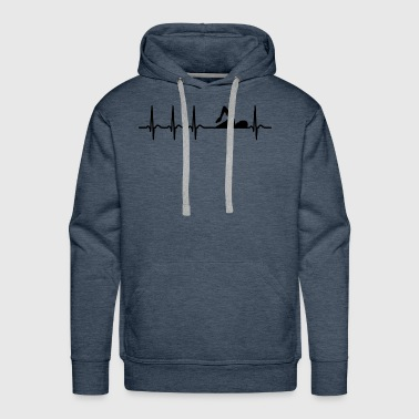 Swim Heartbeat Swimming Club Team Athlete Cool Fun Gift - Men's Premium Hoodie