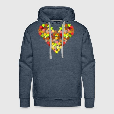 Patches patches of heart - Men's Premium Hoodie