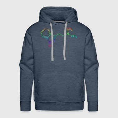 DMT dimethyltryptamine structural formula - Men's Premium Hoodie