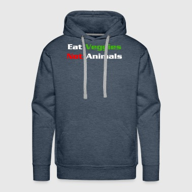 Kiwi Eat veggies Not animals - Men's Premium Hoodie