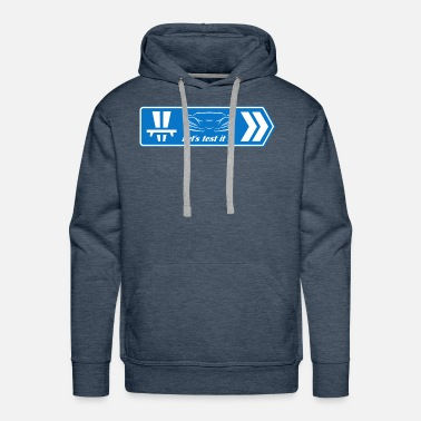 Supercar Sportscar let's test it - Men's Premium Hoodie
