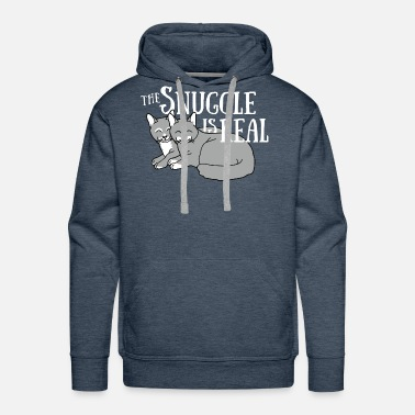 Snuggle The Snuggle Is Real - Men's Premium Hoodie