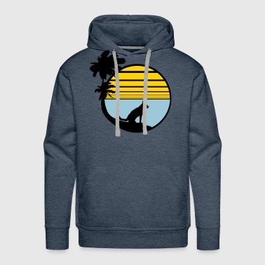 holiday beach palm vacation sea sun seat sitting d - Men's Premium Hoodie