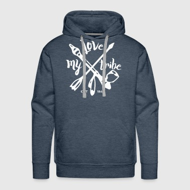 American Indian native american - love my tribe - vintage - Men's Premium Hoodie
