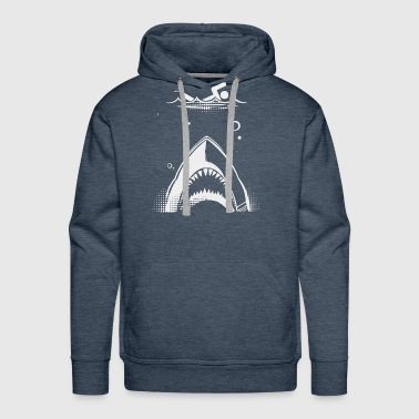 Shark Attack Swimmer - Men's Premium Hoodie