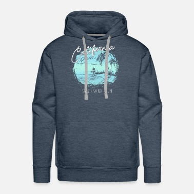 Surf California Beach Surf Surfer Gift - Men's Premium Hoodie
