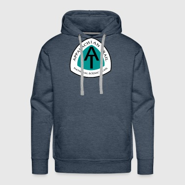 National Park Appalachian National Scenic Trail Marker Logo AT - Men's Premium Hoodie