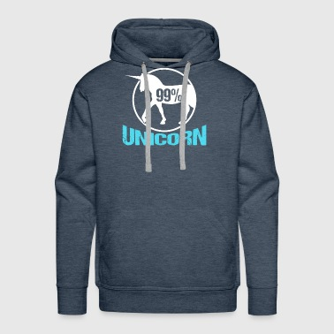 Unicorn | 99 Percent Unicorn - Men's Premium Hoodie