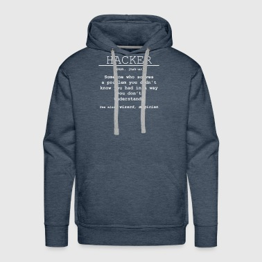Hacker Definition - Someone who solves a problem - Men's Premium Hoodie