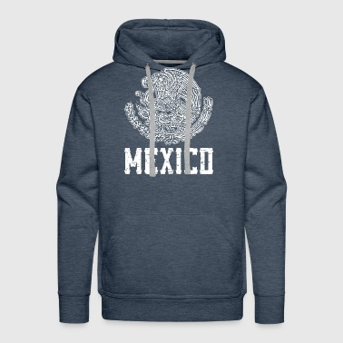 Mexico Crest White Mexican Pride Nationality Ethni - Men's Premium Hoodie