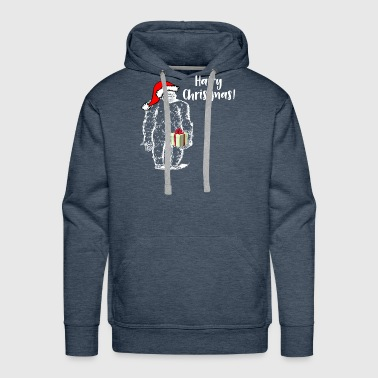 Christmas Bigfoot Hairy Christmas - Men's Premium Hoodie