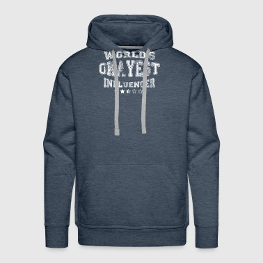 Okayest influencer in the world - tshirts - Men's Premium Hoodie