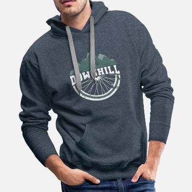 Slopestyle Downhill Bicycle Slopestyle Jump Bike - Men's Premium Hoodie