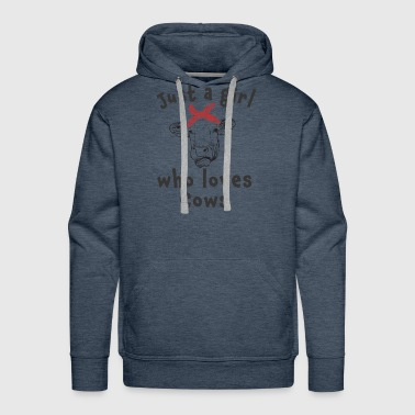 Cute Just a girl who loves cows - Men's Premium Hoodie