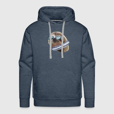Sloth Aviator Glasses scarf Sloths In Clothes - Men's Premium Hoodie