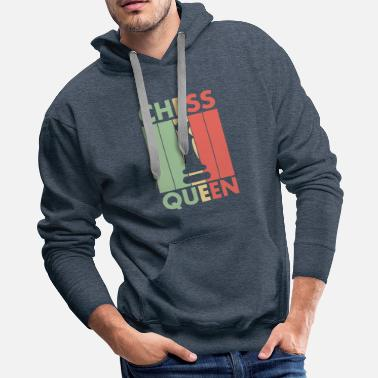 Tactical Chess Game Queen chess piece Royal Gift - Men's Premium Hoodie