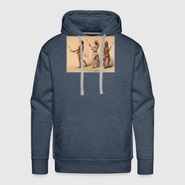 Lacrosse Native American Indian Iroquois Canadian - Men's Premium Hoodie