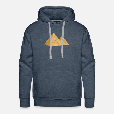 Archaeology pyramids gizeh egypt egyptian culture building - Men's Premium Hoodie