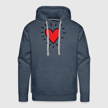 Heart Glowing Heart Tee - Men's Premium Hoodie