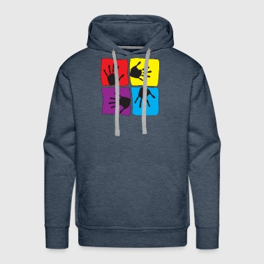 Pop Art Popart Hands Children Kids Love - Men's Premium Hoodie