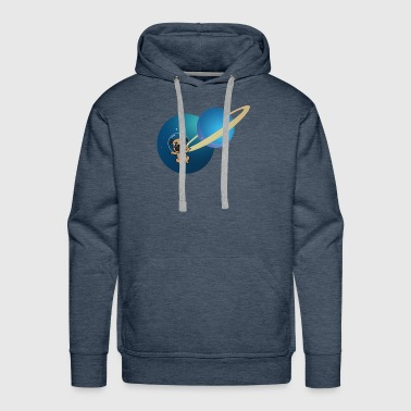 Space Dog | Space | Puppy - Men's Premium Hoodie