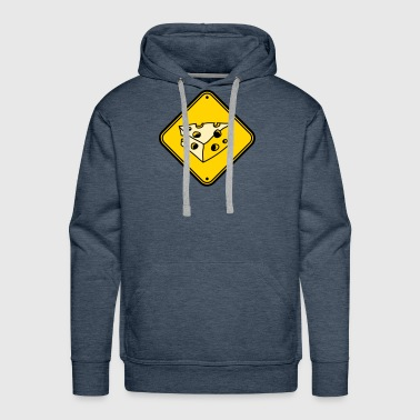 warning note caution caution caution cheese holes - Men's Premium Hoodie