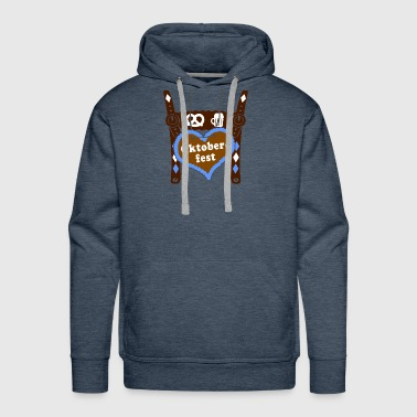 gingerbread wiesn Lederhose heart man gift - Men's Premium Hoodie