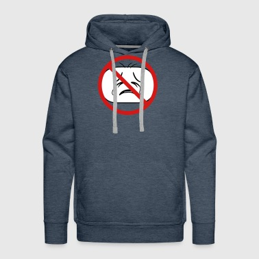 shield prohibited not allowed face head sad cry ho - Men's Premium Hoodie