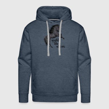 sparkle like a unicorn (black beauty) - Men's Premium Hoodie
