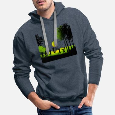 Happy Childrens Day Happy children nature butterfly tree vector image - Men's Premium Hoodie