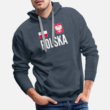 Polska Poland Soccer Jersey World Football Cup Design - Men's Premium Hoodie
