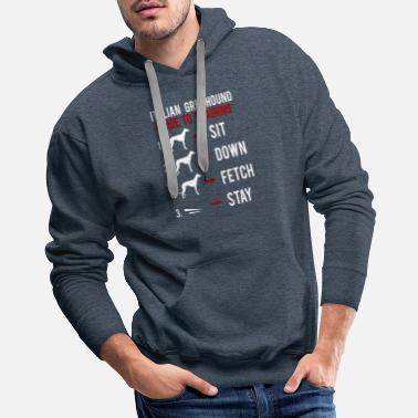Greyhound Italian Greyhound Guide to Training - Men's Premium Hoodie