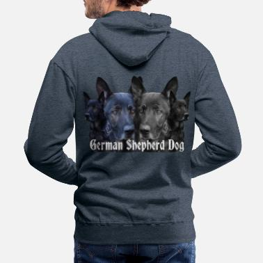 German German Shepherd, dog,Dog sports,dog head, Dog face - Men's Premium Hoodie