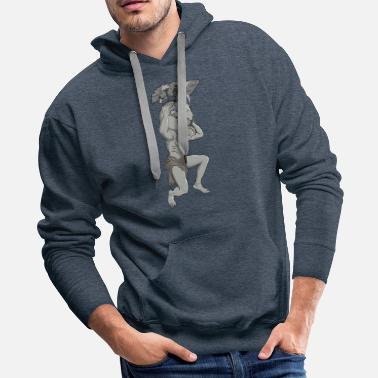 Empty Humans destroy the Earth on Atlas shoulders - Men's Premium Hoodie