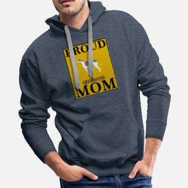 Greyhound Proud Greyhound Mom - Men's Premium Hoodie