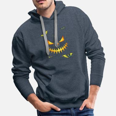 Anything Halloween Monster Pumpkin Face - Men's Premium Hoodie