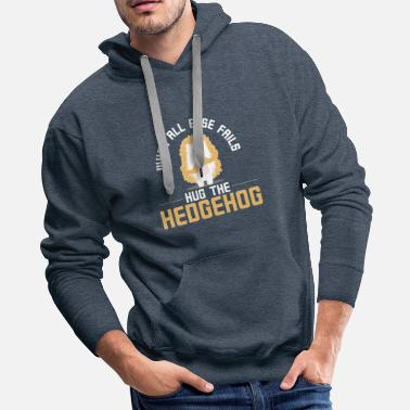 Hedgehog hug the hedgehog - Men's Premium Hoodie