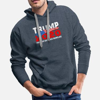 TRUMP 2020 Find Your Safe Place Snowflake - Men's Premium Hoodie