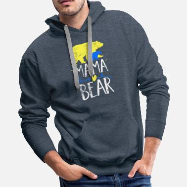 Clan Mama Bear design Down Syndrome Awareness For Moms - Men's Premium Hoodie