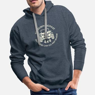 Vintage Jeep quote - Men's Premium Hoodie