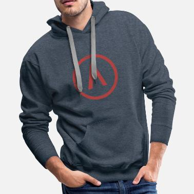 Greece Red Sparta Lambda - Men's Premium Hoodie