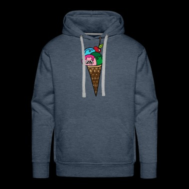 sweet colored scoops of ice cream sweet gift idea - Men's Premium Hoodie