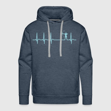 heartbeat archery arrow club team funny quote gift - Men's Premium Hoodie