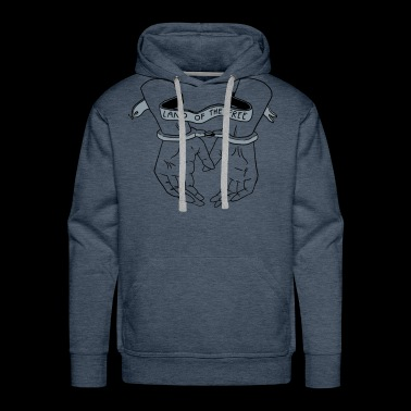 Land of the Free with Handcuffs - Men's Premium Hoodie