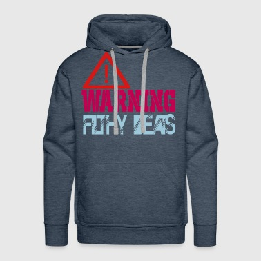 warning filthy beats - Men's Premium Hoodie